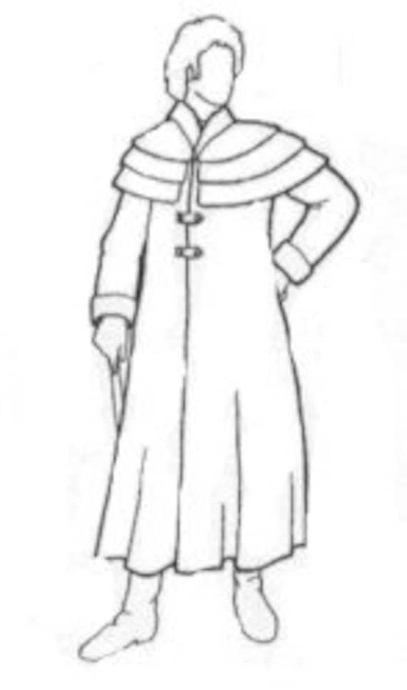 RH200 1800 Colonial Regentschaft Ära Kutscher Mantel Nähen | Etsy