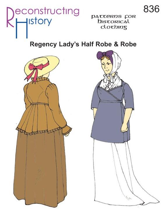 RC836 1790 1810 Regency Half-robe and Robe Sewing Pattern   Etsy