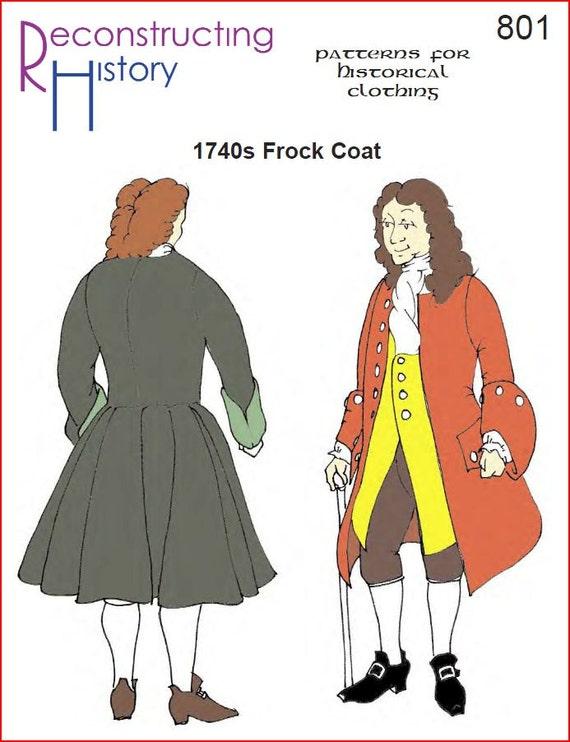 RC801 1740s levita levita de pirata de costura del patrón | Etsy