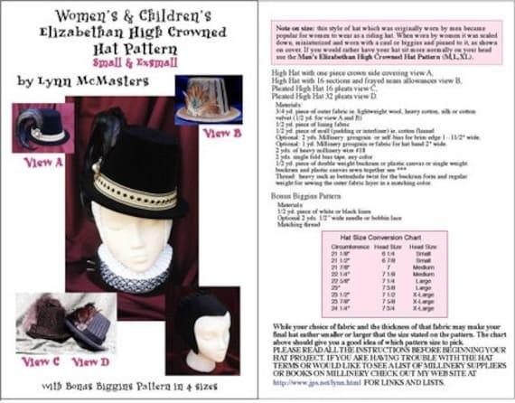 92f3d8e8c5c MC08 Women s Elizabethan High Crowned Hat Sewing Pattern