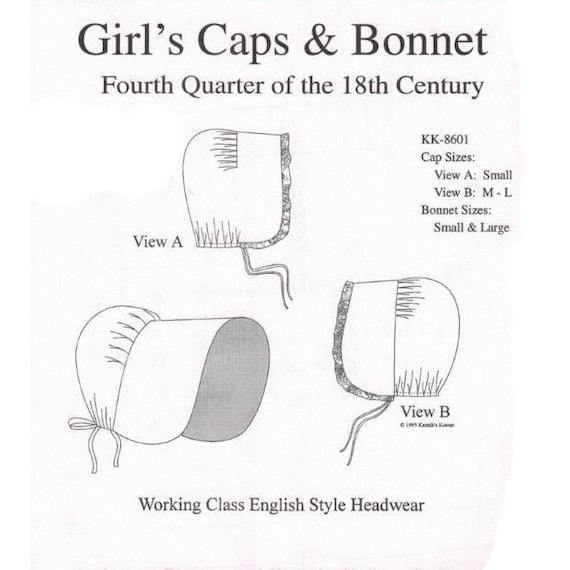 KK8601 de la niña gorras y tapa costura patrón por Korner de | Etsy