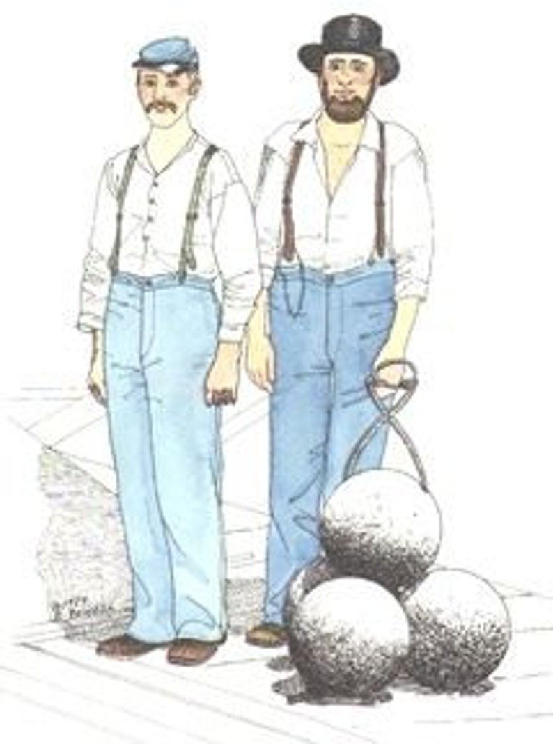 Men's Vintage Reproduction Sewing Patterns     PA713 - 1850s to 1860s Enlarged Draft of Union Issue Trowsers Pattern. $24.38 AT vintagedancer.com