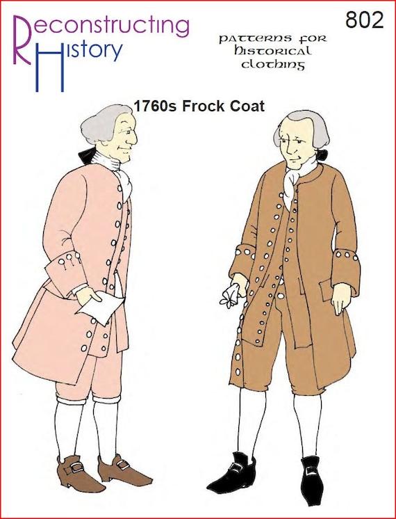 RC802 1760\'s patrón de costura de capa levita o pirata | Etsy