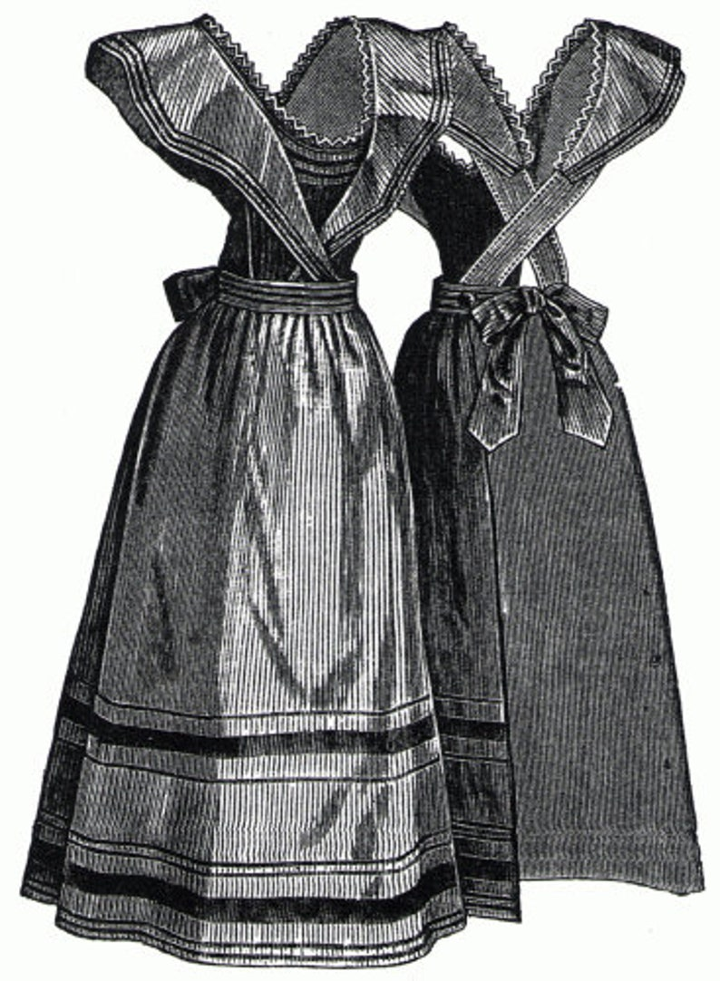 Victorian Edwardian Apron, Maid Costume & Patterns AG2182 - 1894 Seersucker Housekeeping Apron Sewing Pattern by Ageless Patterns $6.75 AT vintagedancer.com