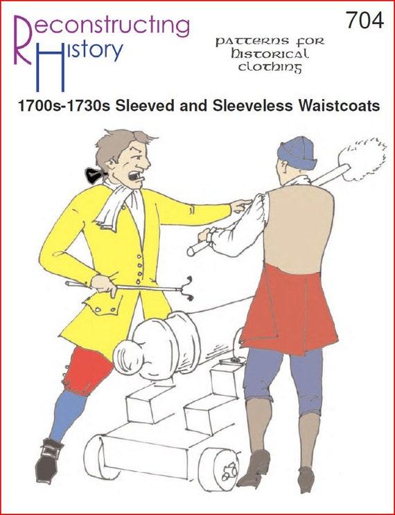 RC704 de 1700 época Colonial mangas y sin mangas chalecos | Etsy