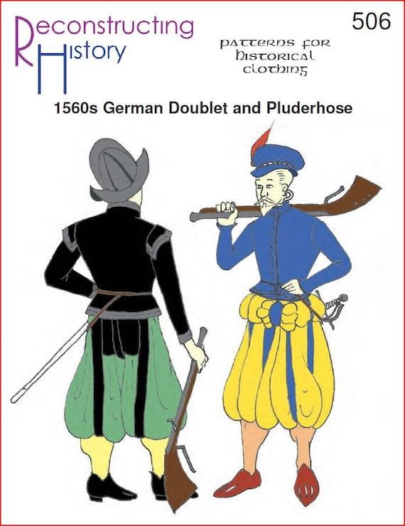 RC506 1560s deutsche Wams und Pluderhose Schnittmuster durch | Etsy