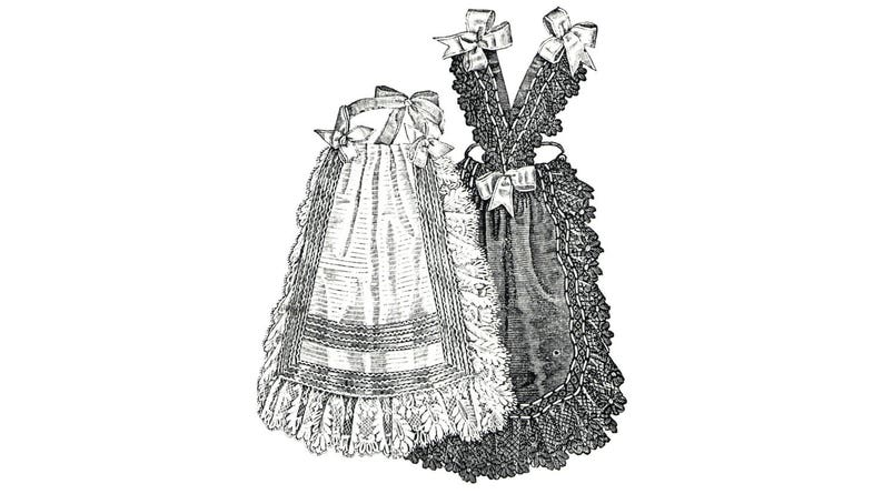 Victorian Edwardian Apron, Maid Costume & Patterns AG2209 - 1894 2 Afternoon Aprons Pattern by Ageless Patterns $5.50 AT vintagedancer.com