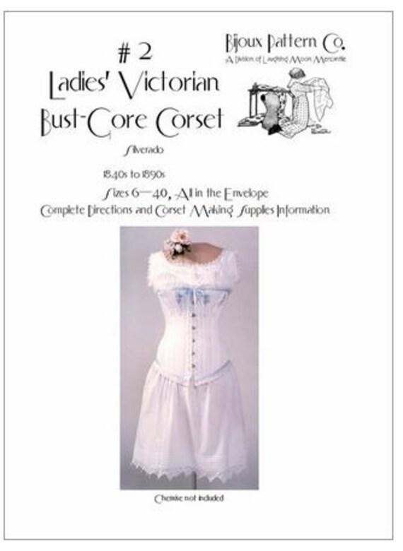 LMBJ02 patrón de costura de corsé victoriano década de la | Etsy