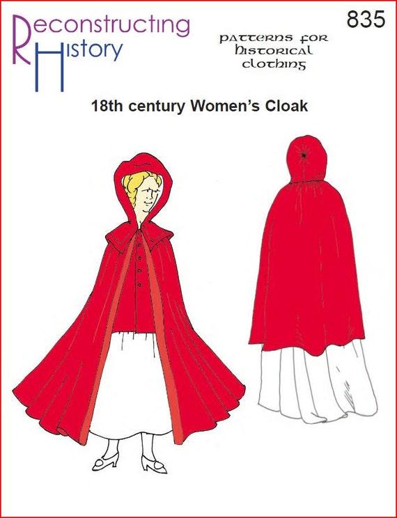 RC835 18. Jahrhundert Damen Mantel Schnittmuster durch | Etsy