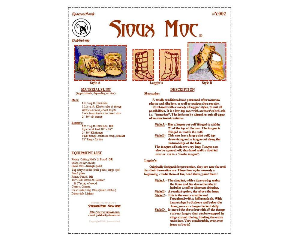 YT002 patrón de costura Moc Sioux por granos de YaTaHai y | Etsy