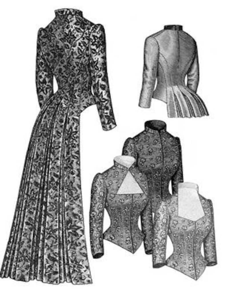 9381c4f16e0 TV462 1883 Tailed Victorian Bodice Sewing Pattern by Truly