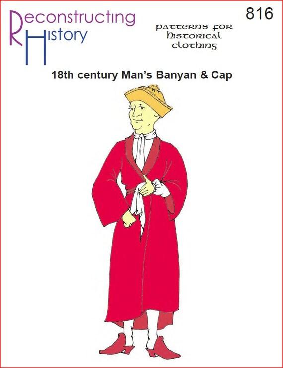 RC816 18. Jahrhundert Banyan und Cap-Schnittmuster durch | Etsy