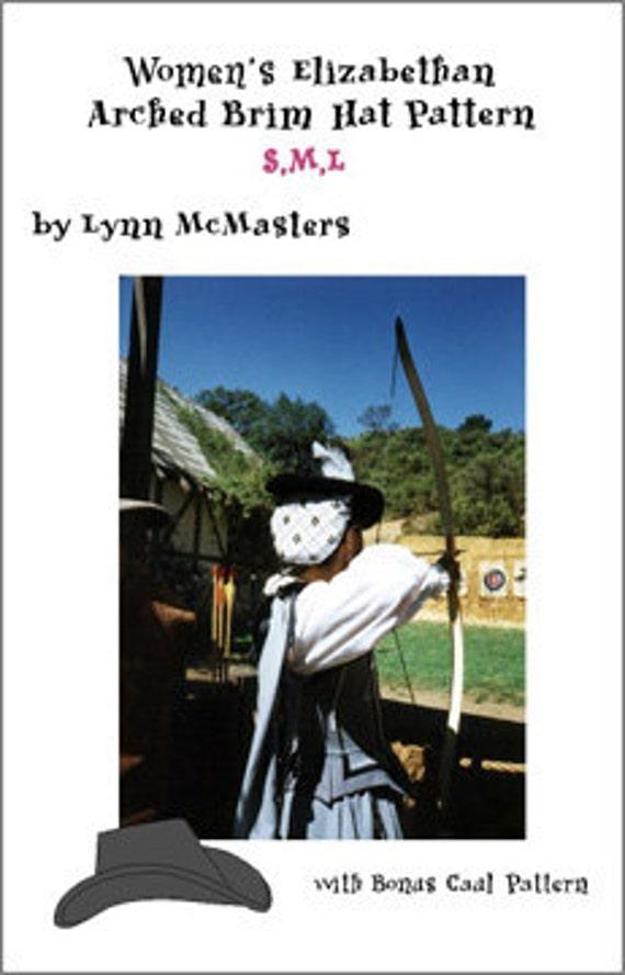 5170fdd2432 MC07 Women s Elizabethan Arched Brim Tall Hat Sewing