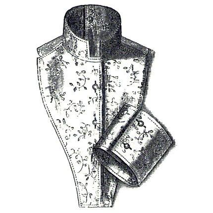 AG1849 1894 Leinen Chemisette und Manschette Schnittmuster   Etsy