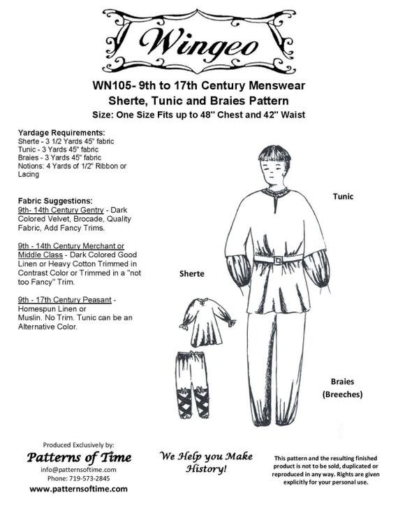 C Etsy modello Menswear 9 Sherte 17 Braies tunica WN105 E7q1a8
