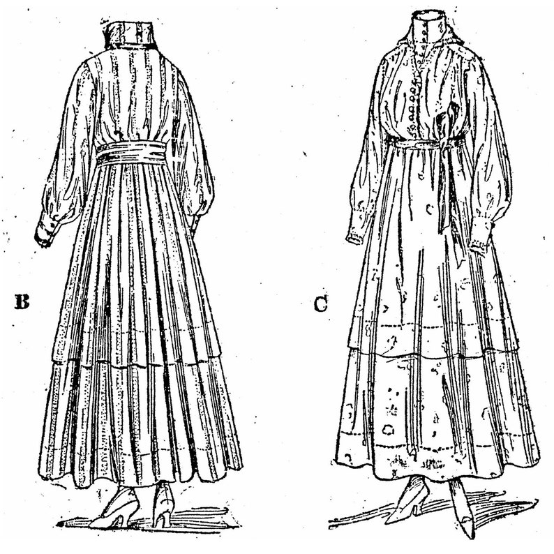 Edwardian Sewing Patterns- Dresses, Skirts, Blouses, Costumes PAC8322 - Ladies Dress Circa 1915 Sewing Pattern by Past Patterns $23.38 AT vintagedancer.com