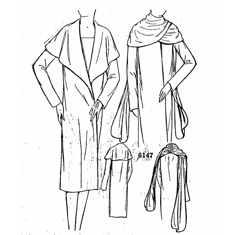 PAC6147 señoras y señoritas envolvente capa Circa 1927-1928 | Etsy