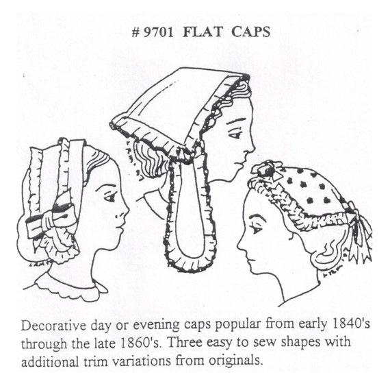MI9701 los años de la década de 1840 a 1860 tapas planas   Etsy