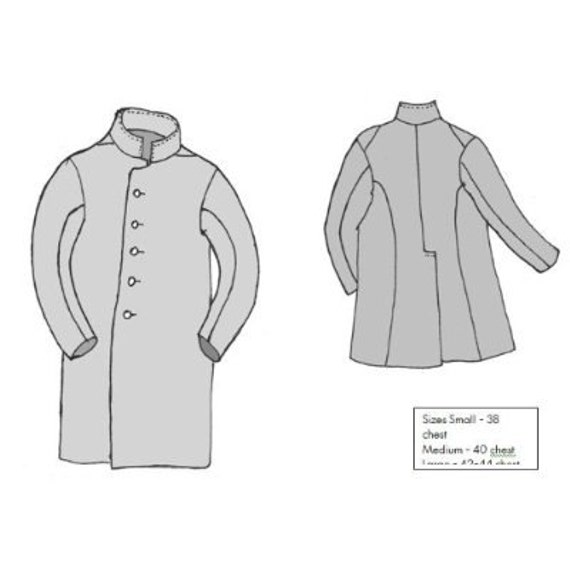 CWSSM03 1794 1822 Peter Fidler\'s Coat Sewing Pattern | Etsy