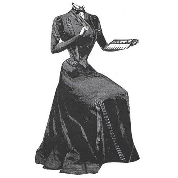 AG1802 1900 Stahl grauen Kleid Nähen Schnittmuster durch | Etsy