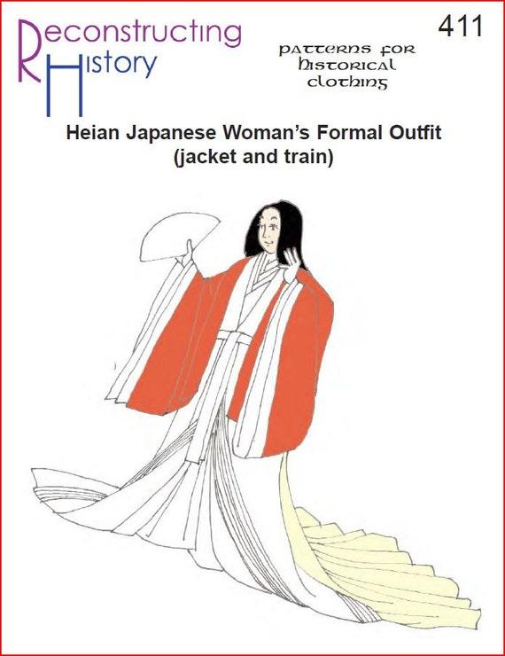 RC411 Formal traje chaqueta y tren patrón de costura Heian | Etsy