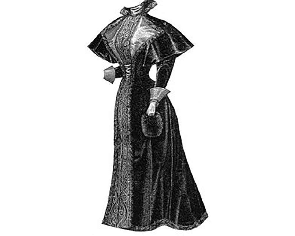 AG1071 traje de pana de 1894 con el patrón de costura de | Etsy