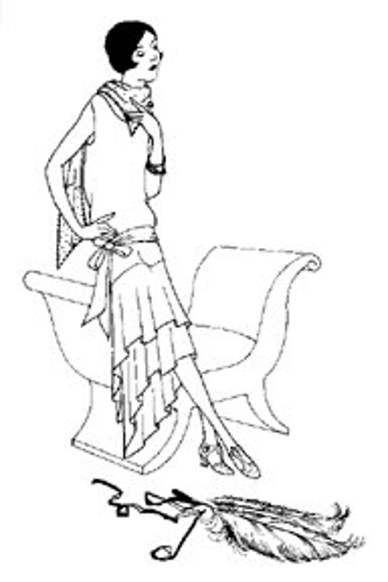 1920s Patterns – Vintage, Reproduction Sewing Patterns PA503 - 1926 Slip on Evening Dress Sewing Pattern by Past Patterns $22.38 AT vintagedancer.com