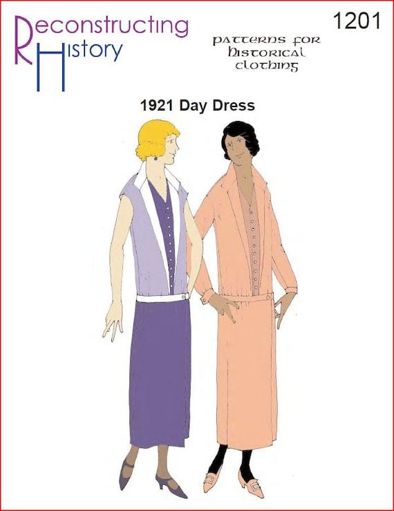 RC1201 década de 1920 día patrón de costura vestido | Etsy