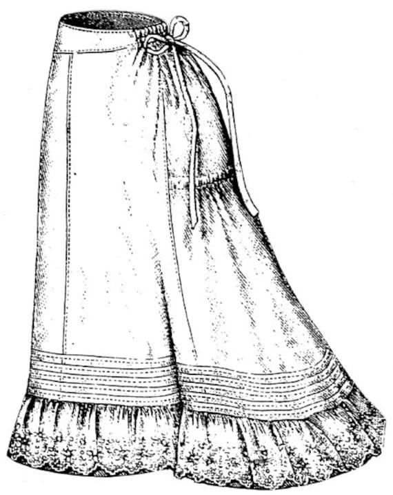 AG1630 1877 enagua con bordado patrón de costura de volante   Etsy