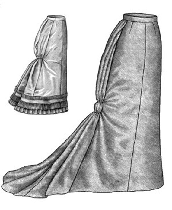 TV225 1878 Fantail Skirt Sewing Pattern by Truly Victorian | Etsy