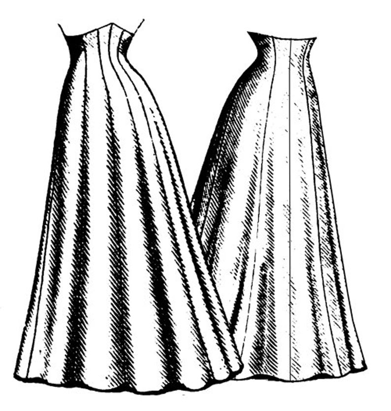 Edwardian Sewing Patterns- Dresses, Skirts, Blouses, Costumes TVE23 - 1906 Ten Gore Princess Skirt Sewing Pattern by Truly Victorian $18.38 AT vintagedancer.com