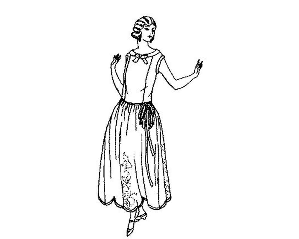 PAC4526 vestido 1922-23 damas con el patrón de falda recta | Etsy