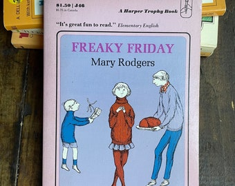 Freaky Friday by Mary Rodgers ~ A Harper Trophy Paperback Book ~ Vintage 1973 ~ ALA Notable Children's Book, Humorous ~ Chapter Book