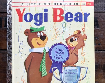 Yogi Bear Little Golden Book ~ First Edition 1960 ~ Vintage Children's Book