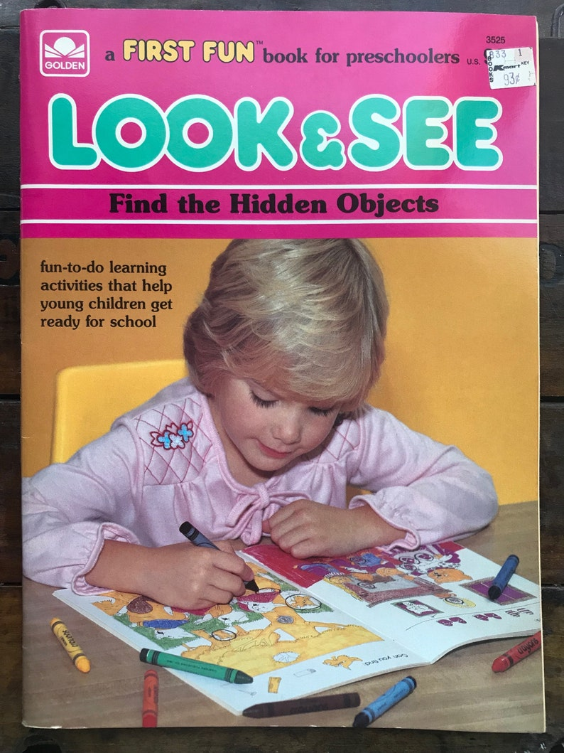Golden Look See Find The Hidden Objects Preschool Activity Etsy