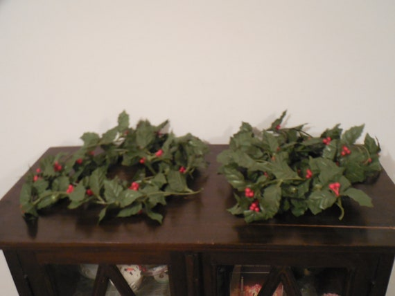 Holly Garland 2 Holly Berry Garland Holly Decorations Holly Etsy