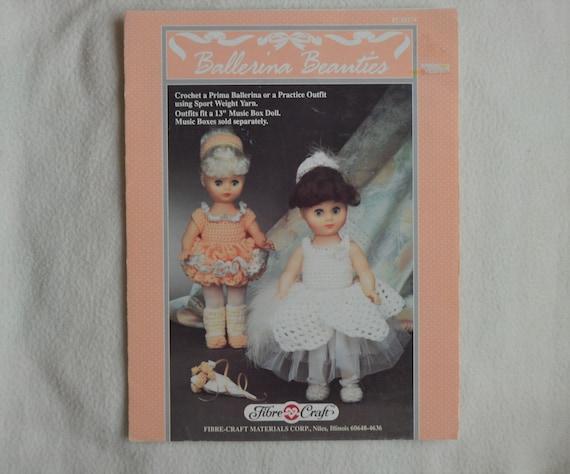 Crochet Doll Pattern Ballerina Beauties By Fibrecraft Prima Etsy