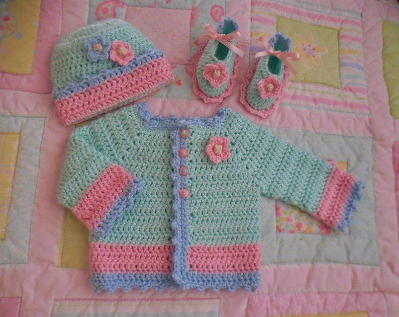 4c0700ca7 Sugar and spice baby sweater set baby girl outfit pink baby