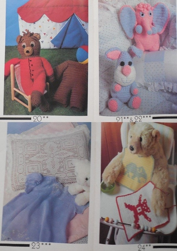 Crochet Fantasy Baby Edition All American Crafts Publication Number 34 1987 Baby Sweater Blanket Crochet Baby Book Crochet Fantasy Book