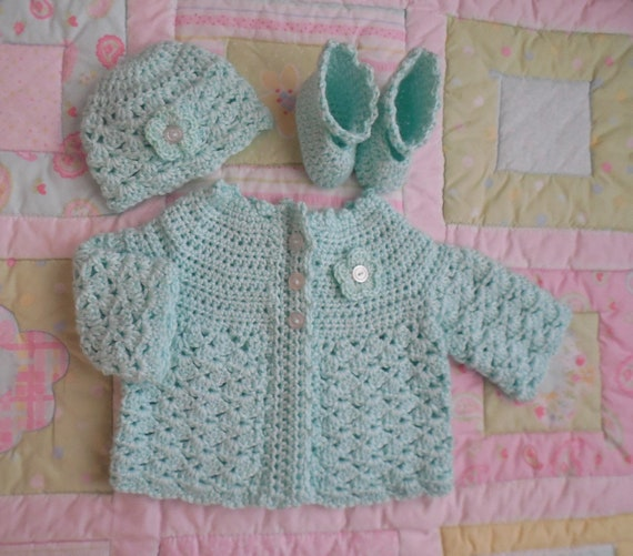 8d64efd4e mint baby sweater set baby girl clothes 0 to 3 months baby | Etsy