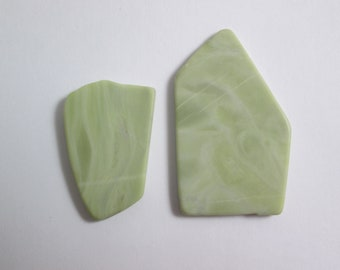 Healite Flat Touchstones ~ 2 pieces ~ Clears Pain ~ Tumbled Soft ~ Reiki Charged ~ 5H13