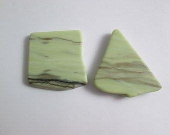 Healite Flat Touchstones ~ 2 pieces ~ Clears Pain ~ Tumbled Soft ~ Reiki Charged ~ 5H14
