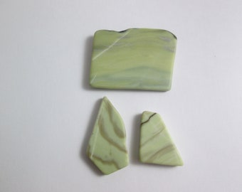 Healite Flat Touchstones ~ 3 pieces ~ Clears Pain ~ Tumbled Soft ~ Reiki Charged ~ 5H17