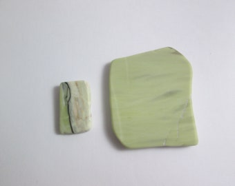 Healite Flat Touchstones ~ 2 pieces ~ Clears Pain ~ Tumbled Soft ~ Reiki Charged ~ 5H18