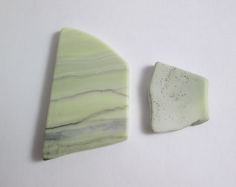 Healite Flat Touchstones ~ 2 pieces ~ Clears Pain ~ Tumbled Soft ~ Reiki Charged ~ 5H15