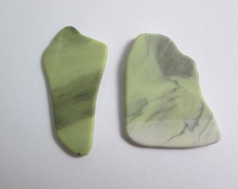 Healite Flat Touchstones ~ 2 pieces ~ Clears Pain ~ Tumbled Soft ~ Reiki Charged ~ 5H12