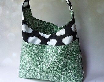 9ed70537b9 Handbags - Large Hobo Bag - Large Shoulder Bag - Hobo Bags - Weekend Bag -  Oversized Bag - Large Handbag - Polka Dot Bag - Black Handbag