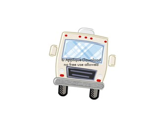 RV Motorhome Front  - Instant  Download - for Embroidery Machines
