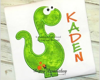 Dinosaur - Dino Dude - Applique Design - Instant Download - for Embroidery Machines