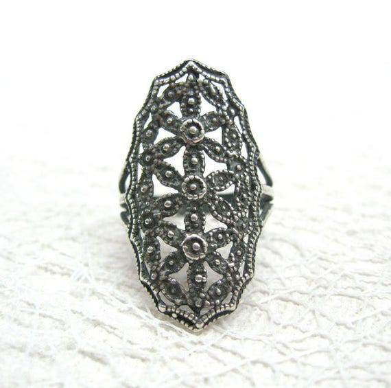 Russian Vintage rings for women girlfriends Gothic
